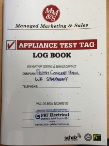 Test Tag Log Book