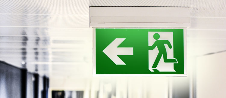 Emergency exit sign and lighting