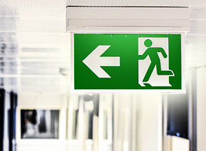 Exit sign and lighting